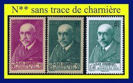 N° 377 377A JEAN CHARCOT - OEUVRES DE MER 1938-39 + TRÉSORS DE LA PHILATÉLIE 2016 - N** SANS CHARNIÈRE NI TRACE - - France