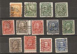 Canada - 1928/35 -  George V - Petit Lot De 13 Timbres° - Timbres