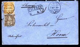 A4787) Schweiz Charge-Brief Von Luzern 30.11.77 Mit Mi.22, 24 - 1862-1881 Sitzende Helvetia (gezähnt)