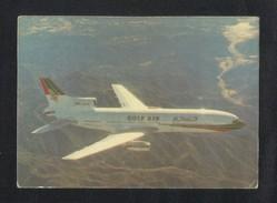 U A E Gulf Air Airline Five Star Tri Star Flight Airplanes Picture Postcard View Card - Emirati Arabi Uniti