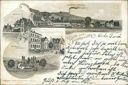AK Jünkerath, Gruss Aus Litho Mit Bahnhof, Hotel Werner, Hüttenwerk, O 1897, Beschnitten, Fleckig, Druckstellen (13884) - Germany