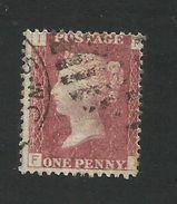 Great Britain - 1864 1d Red - Scott # 33 - Plate # 142 - GU - GB 10 - 1840-1901 (Victoria)