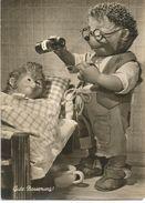 CPM Mecki - Gute Besserung (guerison) Docteur, Enfant Malade Au Lit, Sirop, Medicament, Medecine - Herissons Marionnette - Mecki