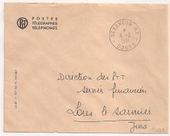 En Franchise, PTT, BESANCON R.P. Doubs. 1961 - Postmark Collection (Covers)