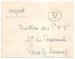 En Franchise, PTT, FRASNE Doubs. 1961 - Postmark Collection (Covers)