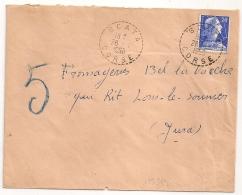 Cachet Tireté, SCATA Corse Sur Enveloppe. - Postmark Collection (Covers)