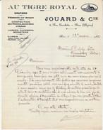 """Algérie - Bône - Jouard Et Cie - """"Au Tigre Royal"""" - Draperie- Vêtements - Lingerie - Confection - 1942 - Factures & Documents Commerciaux"""