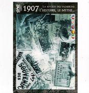 DVD 1907 La Révolte Des Vignerons L'Histoire, Le Mythe (DVD+carte+enveloppe) TBE - Historia