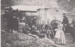 REPRODUCTION . Militaria. Convivial Party Of English  French Troops In The 4th Dragoon Guards's Camp (1855) - Andere Kriege