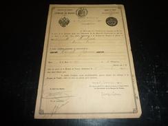 """DOCUMENT """" BANQUE DE FRANCE """" 1909/10 - AVEC L'EMPIRE DE RUSSIE """" CERTIFICAT NOMINATIF """" SERVICE DES DEPOTS DE TITRES - Banque & Assurance"""