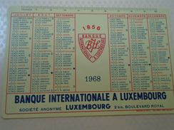 D152465 Calendar - Banque Internationale A LUXEMBOURG  BIL - 1968 Pocket Calendar - Petit Format : 1961-70