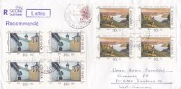 Soviet Registered Cover From Tallinn Estonia 1990 Paintings  (L78-17) - Arts