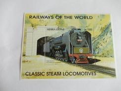 TIMBRE Sierra Leone Chemin De Fer Train China - Sierra Leone (1961-...)