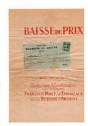 Grands Magasins Du Louvre Paris.Albi. Semeuse N° 26.Postes Paris 1921 Sur Pochette Double Pour Albi. RARE. - Vorausentwertungen