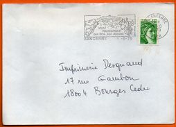 18 SANCERRE SES VINS 1979  Lettre Entière N° EE 281 - Marcophilie (Lettres)