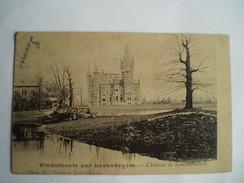Vinderhoute Par Lovendegem // Château De Schouwbroeck .. Ca 1899 Uitg. Ed Govaert Lovendegem // Zeldzaam - Lovendegem