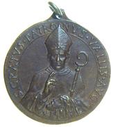 Valle D' AOSTA - Medaglia San GRATO - Vescovo E Patrono Di Aosta ( Anni '50 / 33mm ) Eremo Di San Grato - Italia