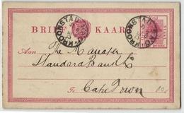 Oranjefluss-Kolonie - Ganzsache Aus Kroonstad 1898 (548284) - Oranje-Freistaat (1868-1909)