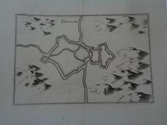 DOULLANS.(SOMME) Planche :35,5 X 28,5 Cm.pliure.MERIAN 17e.siècle.TTB. - Other Plans
