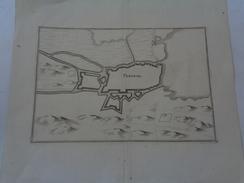 PERONNE.(SOMME) Planche :36 X 32 Cm.pliure.MERIAN 17e.siècle.TTB. - Technical Plans