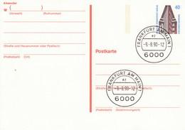 B P 134   40 Pf Sehenswürdigkeiten  - Chilehaus Hamburg, Frankfurt Am Main - Postkarten - Gebraucht