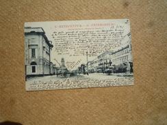 Carte Postale Affranchie Russie Pour Paris Oblitération St Petersbourg  1 Dans Un Cercle 1901 - 1857-1916 Empire