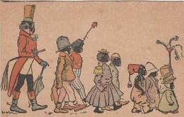 Illustrateur Non Signé ENFANTS NOIRS PROCESSION CARNAVAL ? - Voor 1900