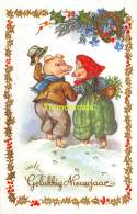 CPA COCHON COCHONS PIG PIGS VARKEN VARKENS COLOPRINT 53893 - Cochons