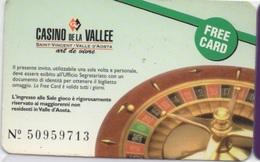 Free Card : Casino De La Vallée D'Aosta Saint-Vincent Italie - Casino Cards