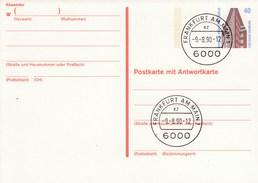 B P 137    40 Pf Sehenswürdigkeiten  - Chilehaus Hamburg - Postkarte Mit Antwortkarte, Frankfurt Am Main - Postkarten - Gebraucht