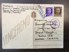 ITALIA   WWII.  CAMPO CONCENTRAMENTO  MONIGO PRESSO TREVISO  1942.  PRISSONERS CAMP  FOLDED !!!! - 1900-44 Victor Emmanuel III.