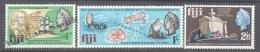 Fiji - Fidji 1967 Yvert 212-14, 150th Ann. Death Admiral Bligh - MNH - Fiji (1970-...)