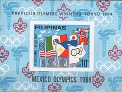 Olympia Tokio 1964 Philippinen Block IV ** 20€ Flaggen EXPO EFIMEX Ms Philatelic Bloc Olympic Ss Sheet Bf Pilipinas - Summer 1964: Tokyo