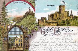 Allemagne, Gruss Oberlahnstein Lahneck, Burg, Château - Lahnstein