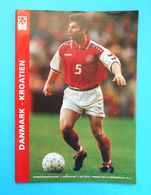 DENMARK : CROATIA - 1997. Football Match Programme Soccer Fussball Programm Programma Programa Kroatien Croatie Croazia - Books