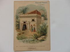 """Chromo Biscuit Pernot """"Histoire De L'habitation Humaine Hébreux"""". - Pernot"""