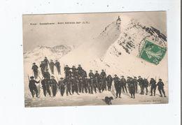 CHASSEURS ALPINS . RETOUR RASSAMBLEMENT MONT MOUNIER 2818 M (A M)  1913 - Frankreich