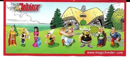 Notice Kinder Astérix Obélix Et Autres Personnages - Instructions