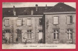 CPA Uzemain - Poste Et Maison D'École - Autres Communes