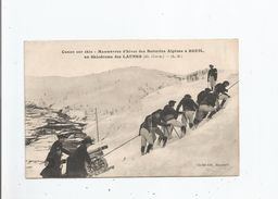 A BEUIL AU SKIODROME DES LAUNES (A M) CANON SUR SKIS . MANOEUVRES D'HIVER DES BATTERIES ALPINES - Frankreich