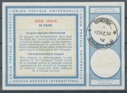INDE / INDIA Type XIX  98 PAISE International Reply Coupon Reponse Antwortschein IRC IAS  O SAMBALPUR 12 DEC 70 - Ganzsachen