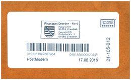 Bund / Post Modern [01129 Dresden]: Stempel 'Finanzamt Dresden-Nord, 2016' / Cancel 'Dresden Revenue Office' - Privados & Locales