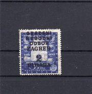 Kroatien 1943 700 Jahre Zagreb Mit Überdruck  2 Dinar  (  N  7604  ) - Croatia