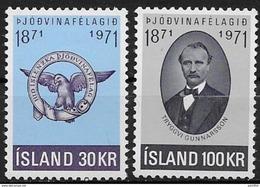 Islande 1971 N° 408/409  Neufs ** MNH Société Patriotique - 1944-... Repubblica