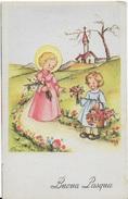 BUONA PASQUA - BAMBINA DONA FIORI AD UN ANGIOLETTO - ED. AR #402/4 - NUOVA NV - Pasqua
