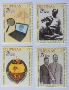 MNH Philippines 2011 - 75th Year Of NBI, National Bureau Of Investigation 4V - Police - Gendarmerie
