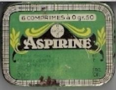 BAYER - ASPIRINE (6 Comprimés à 0 Gr. 50)  - BOITE METALIQUE VIDE. - Boxes