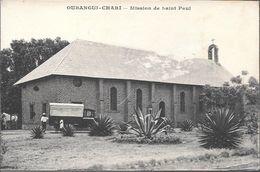 OUBANGUI CHARI MISSION DE SAINT PAUL ANIMEE CPA DOS DIVISE UNCIRCULATED MISIONES RELIGIOSAS CATOLICAS - Missie
