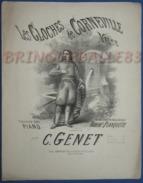 CAF CONC PIANO GF PARTITION XIX LES CLOCHES DE CORNEVILLE VALSE PLANQUETTE CONSTANTIN GENET 1877 ILL BARBIZET - Musique & Instruments