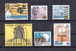 VATICAN N° 705 721 722 753 760 780 (o) (YT) PAPE JEAN PAUL II BIBLIOTHEQUE VOYAGES NAIROBI - Vatican